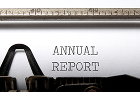 Annual report button